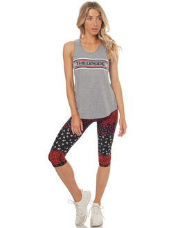 BLACK MULTI WOMENS CLOTHING THE UPSIDE ACTIVEWEAR - UPL1559BLKMU