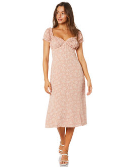 FLORAL WOMENS CLOTHING LULU AND ROSE DRESSES - LU23923FLORAL