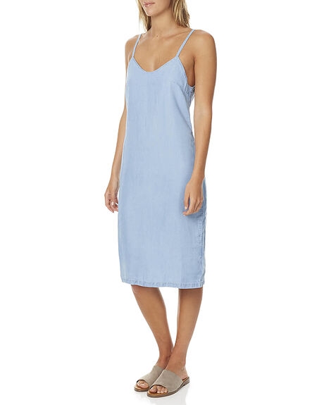 WASHED BLUE WOMENS CLOTHING MINKPINK DRESSES - MD1606953WBLU