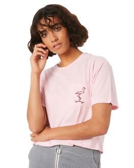 FADED PINK WOMENS CLOTHING VOLCOM TEES - B3541804FDP