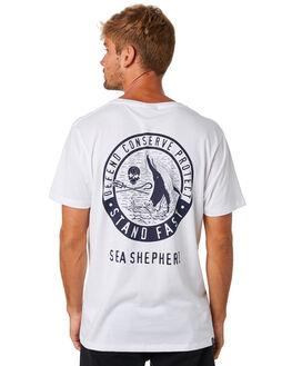 WHITE MENS CLOTHING SEA SHEPHERD TEES - SSA886BWHT