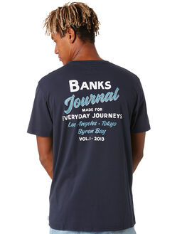 DIRTY DENIM MENS CLOTHING BANKS TEES - WTS0447DDN