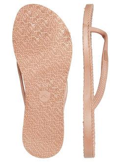 ROSE GOLD WOMENS FOOTWEAR RUSTY THONGS - FOL0317RSG