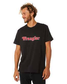 WORN BLACK MENS CLOTHING WRANGLER TEES - 901568082