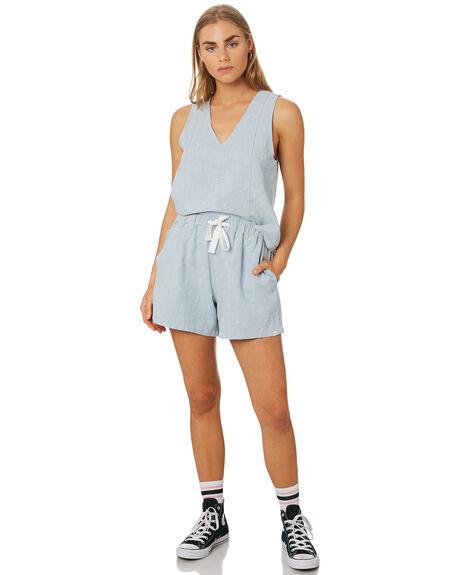 BLUE WOMENS CLOTHING RPM SHORTS - 9SWB02ABLU