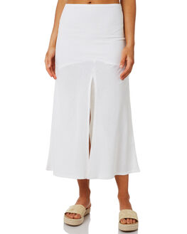 WHITE WOMENS CLOTHING ZULU AND ZEPHYR SKIRTS - ZZ2604WHT