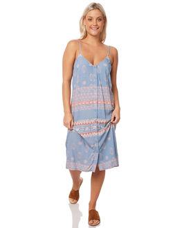 MACHINE BLUE WOMENS CLOTHING RUSTY DRESSES - DRL0934MHB