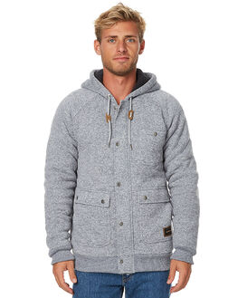 LIGHT GREY HEATHER MENS CLOTHING QUIKSILVER JUMPERS - EQYFT03646LGH