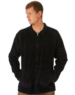BLACK MENS CLOTHING RVCA JACKETS - R193441BLK