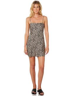 LEOPARD WOMENS CLOTHING LULU AND ROSE DRESSES - LU23672MLT