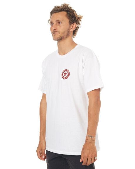 WHITE MENS CLOTHING BRIXTON TEES - 06647WHT