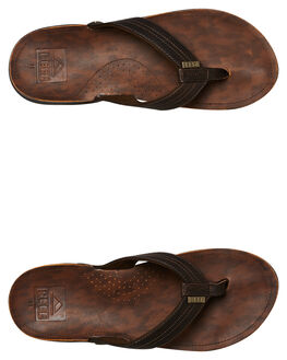 DARK BROWN MENS FOOTWEAR REEF THONGS - 2616DB2
