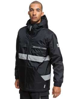 BLACK MENS CLOTHING DC SHOES JACKETS - EDYJK03176-KVJ0