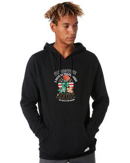 BLACK MENS CLOTHING HUF JUMPERS - PF00222BLACK