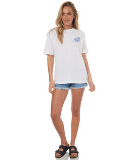 WHITE WOMENS CLOTHING SANTA CRUZ TEES - SC-WTD7493WHT