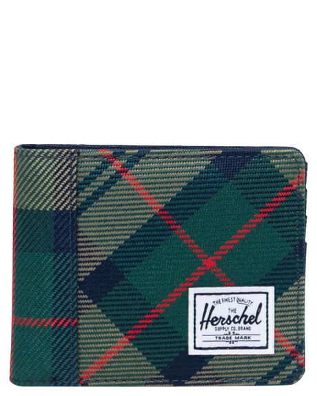 EDEN PLAID MENS ACCESSORIES HERSCHEL SUPPLY CO WALLETS - 10363-04081-OSEDPLA