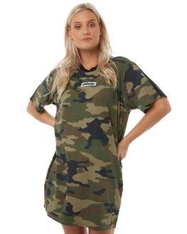 CAMO WOMENS CLOTHING STUSSY DRESSES - ST185500CAMO