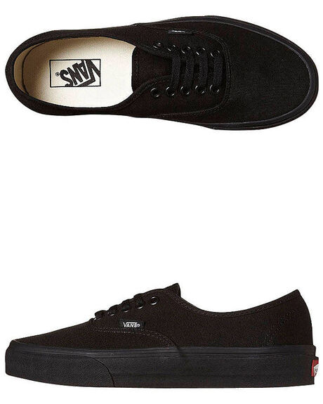 Vans Mens Authentic Shoe - Black Black  3219c2787