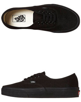 BLACK BLACK WOMENS FOOTWEAR VANS SKATE SHOES - SSVN-0EE3BKAW