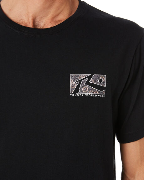 BLACK MENS CLOTHING RUSTY TEES - TTM2379BLK