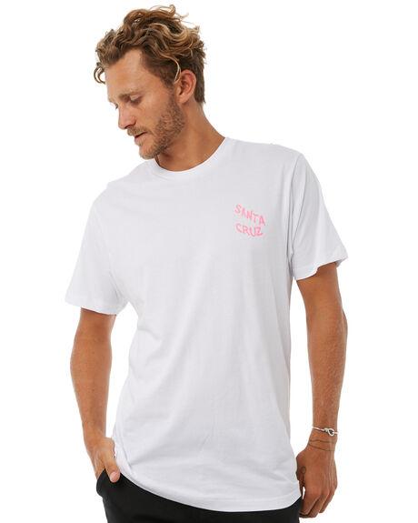 WHITE MENS CLOTHING SANTA CRUZ TEES - SC-MTA8745WHT