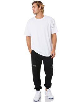 BLACK MENS CLOTHING ZANEROBE PANTS - 701-FLDBLK