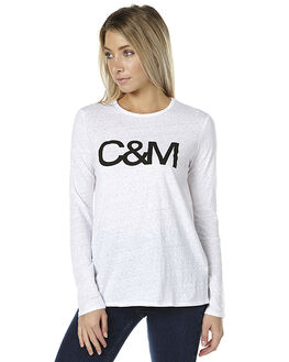 WHITE WOMENS CLOTHING CAMILLA AND MARC TEES - LCMT63861WHT1