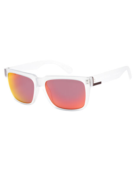 MATTE CRYSTAL/ML RED MENS ACCESSORIES QUIKSILVER SUNGLASSES - EQYEY03075-XWWR