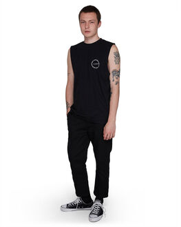 BLACK RINSE MENS CLOTHING ELEMENT SINGLETS - EL-107272-2BR