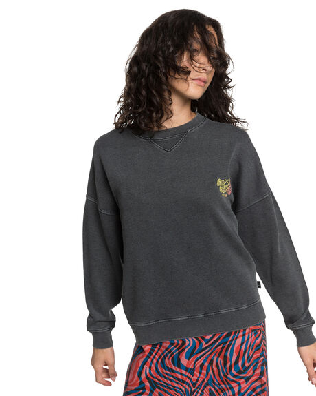 BLACK WOMENS CLOTHING QUIKSILVER JUMPERS - EQWFT03016-KVJ0