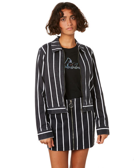 STRIPE WOMENS CLOTHING VOLCOM JACKETS - B1511904STP