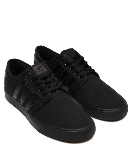 BLACK BLACK MENS FOOTWEAR ADIDAS SKATE SHOES - SSAQ8531BKBKM