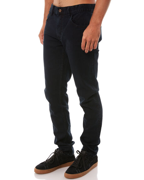 BLUE BLACK MENS CLOTHING GLOBE JEANS - GB01236003BLBK