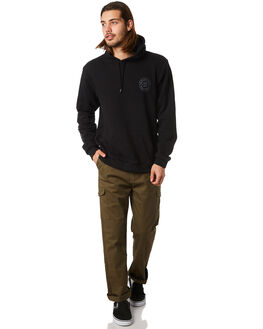 BLACK MENS CLOTHING BRIXTON JUMPERS - 02498BLAK