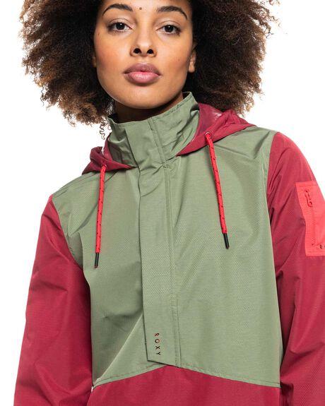 TIBETAN RED WOMENS CLOTHING ROXY JACKETS - ERJJK03464-RRR0