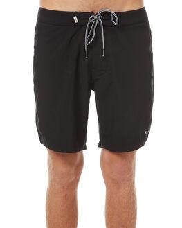 BLACK MENS CLOTHING RHYTHM BOARDSHORTS - OCT17M-TR04-BLK