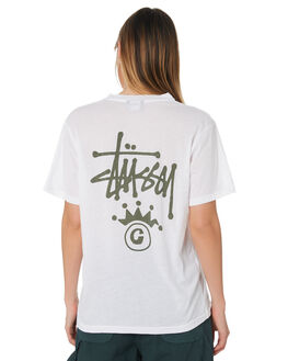 WHITE WOMENS CLOTHING STUSSY TEES - ST191005WHI
