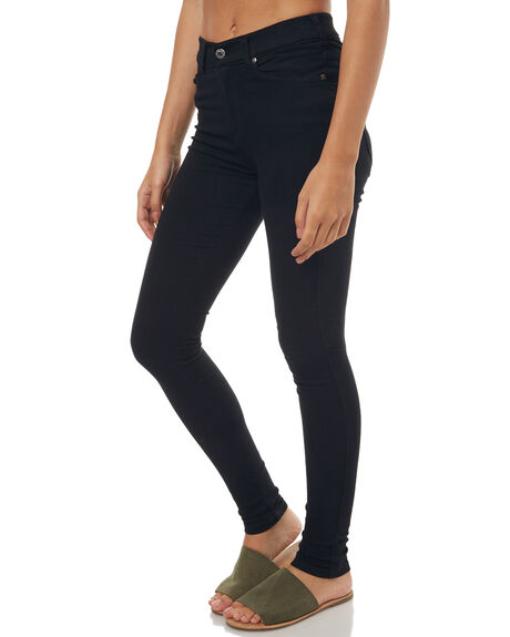 BLACK WOMENS CLOTHING DR DENIM JEANS - 1510111-101BLK1