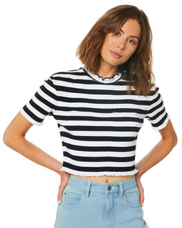 BLACK WOMENS CLOTHING AFENDS TEES - W191108BLK