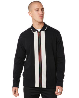 BLACK MENS CLOTHING MISFIT JACKETS - MT096401BLK
