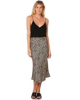LEOPARD WOMENS CLOTHING LULU AND ROSE SKIRTS - LU23673MLT