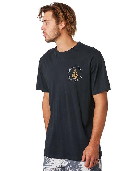 BLACK COMBO MENS CLOTHING VOLCOM TEES - A504188GBLC