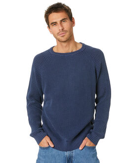 INDIGO MENS CLOTHING MR SIMPLE KNITS + CARDIGANS - M-07-31-33IND
