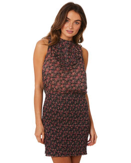 PURPLE COMBO WOMENS CLOTHING FREE PEOPLE DRESSES - OB934565-5003