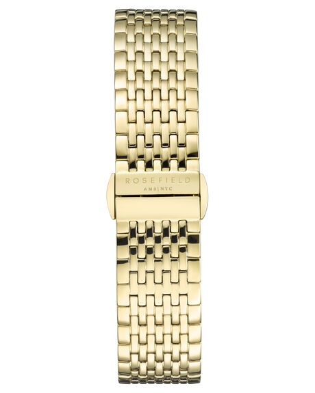 WHITE SUNRAY GOLD WOMENS ACCESSORIES ROSEFIELD WATCHES - QWSG-Q09WSSG