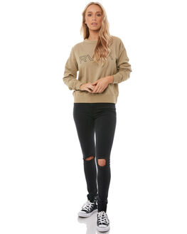 GOLDRUSH WOMENS CLOTHING RVCA JUMPERS - R283154GOLD