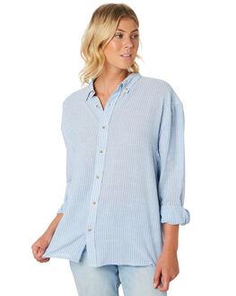 SKY WHITE WOMENS CLOTHING ROLLAS FASHION TOPS - 13052-2688