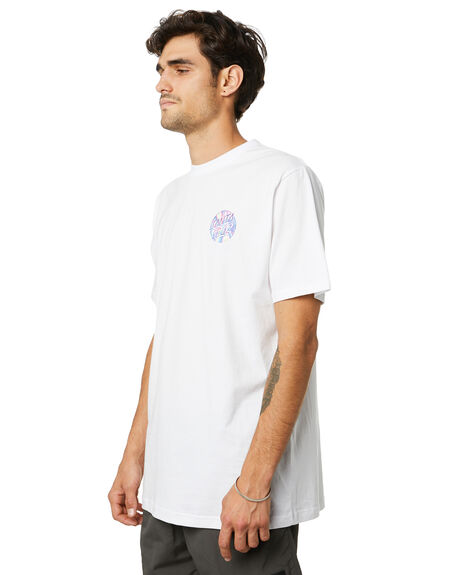 WHITE MENS CLOTHING SANTA CRUZ TEES - SC-MTD0791WHT