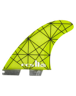 YELLOW BLACK SURF HARDWARE FCS FINS - FKAL-PC01-TS-RYELBLK