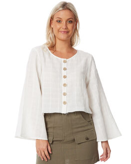 WHITE WOMENS CLOTHING THE HIDDEN WAY FASHION TOPS - H8183169WHITE